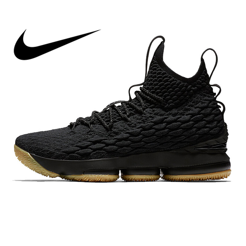 Original Nike Lebron 15 LBJ15 Men's Basketball Shoes Comfortable Outdoor Sneakers Athletic Designer Footwear 2018 New 897649 image