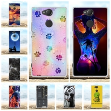 For Sony Xperia XA2 Case Ultra Thin Soft TPU Silicone Cover Floral Patterned Coque Funda