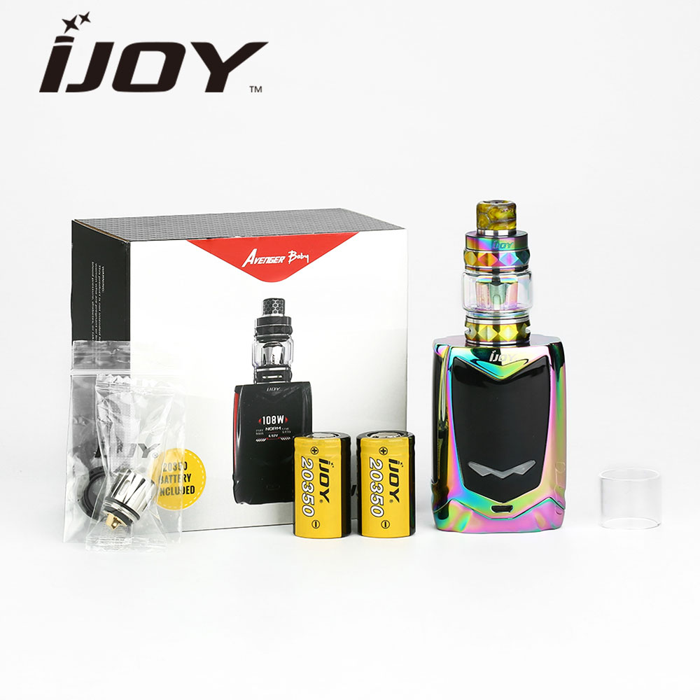 108W IJOY Avenger Baby Voice Control TC Kit with Dual 20350 2800mAh Battery & 2ml/4ml IJOY Diamond Baby Tank E-cig Avenger Kit