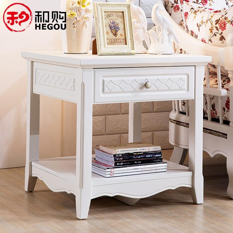 Korean Solid Wood Coffee Table Sofa Side A Few Corner