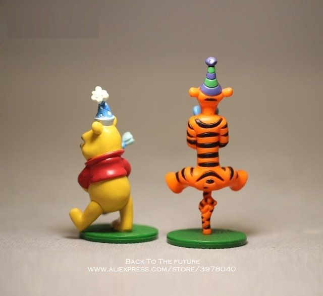 Disney Winnie the Pooh Tigger Piglet 2pcs/set 7-8cm Action Figure