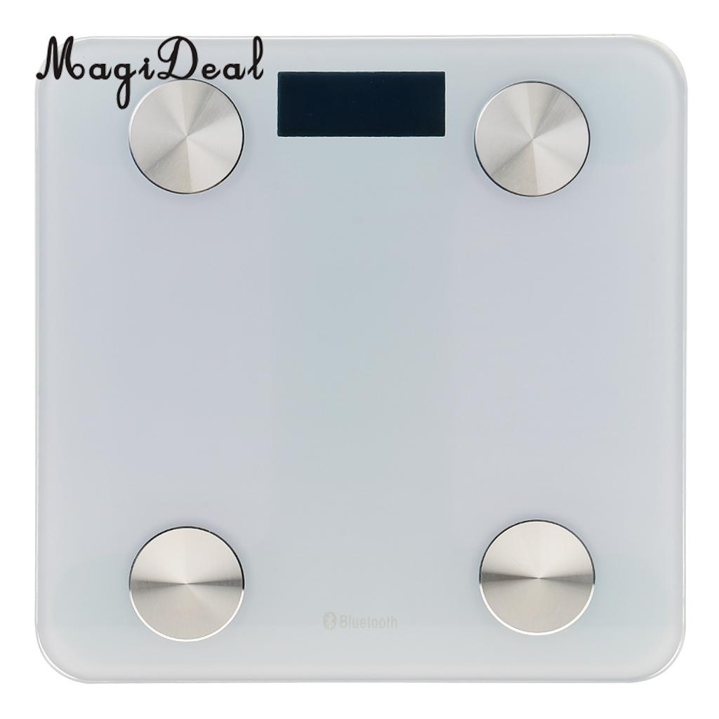 MagiDeal Slim LCD Digital Fitness Bathroom Smart Body Weight Fat Scale High Precision