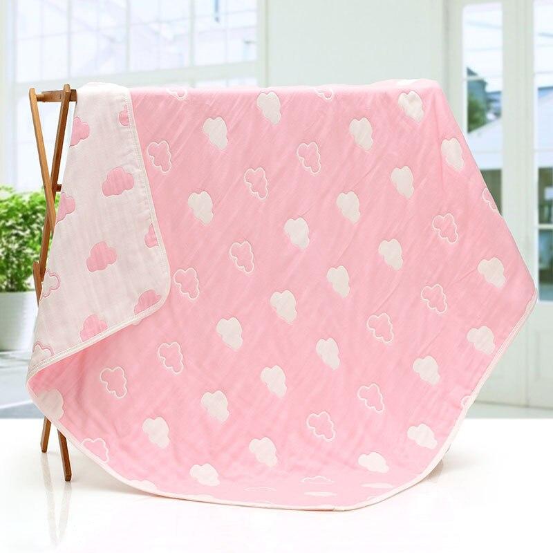 On The Bed Newborn Baby Blankets Cotton Gauze Blanket Children Kids Sofa Plaid Super Soft Bed Sheet Newborn Wraps