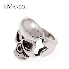 eManco Skull stainless unisex rings fashion jewelry rings women brand punk rock personalized stainless gift(China)