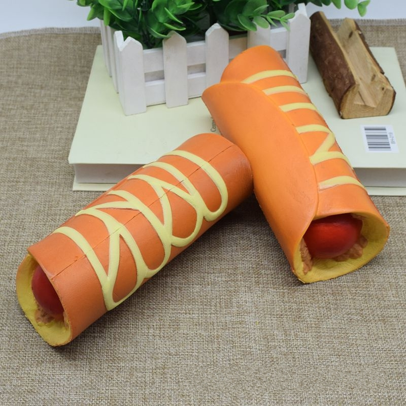 18CM Jumbo Meat Roll Squishy Toy Slow Rising Soft Squeeze Similation Food Photography Props Joke Toys Stress Stretch Kids Toy P2