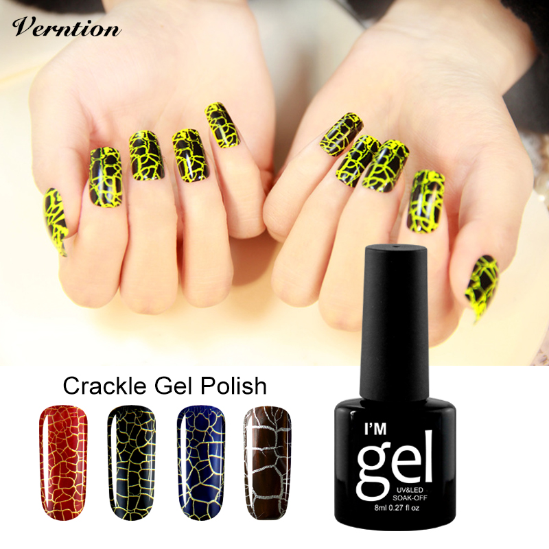 Verntion Crack Nail Lacquer Lukcy 12 Colorful Crack UV