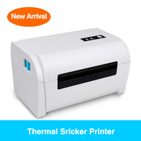 new arrival New Arrival 108mm 4 inch Thermal Label Barcode Printer USB Port ePacke Shipping Label Printer 100*150 (1)