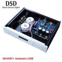 Weiliang аудио DC100 Amanero USB ЦАП AK4118 AK4497 декодер DSD аудио усилитель