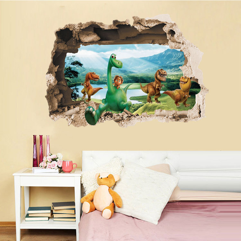 2016 new arrival 3d wall stickers dinosaur posters for for Dinosaur wall decals for kids rooms