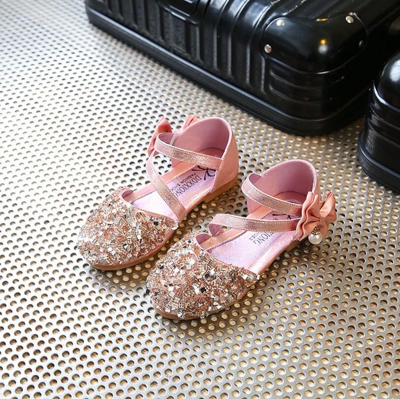 Children Princess Glitter Sandals Kids Girls Soft Shoes Square Low-heeled  Dress Party Shoes Pink Gold Silver. aeProduct.getSubject() aeProduct. 4ef7bbdd3fc9