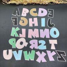 Büyük alfabe kalıpları kelime kesme ölür 26 metal kalıp alfabe harfler isim kartı DIY pullar ve ölür kart yapımı için
