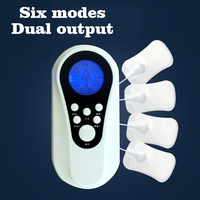 Health Care 6 Modes Dual Output TENS Digital Therapy Electrical Body Stimulator Muscle Massager Tens Acupuncture
