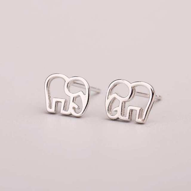 Simbol of Love Tiny Elephant Stud Earrings3