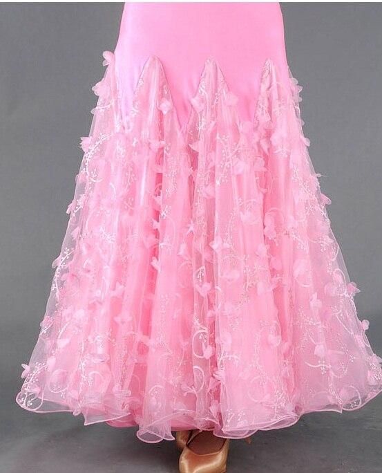 Costume de danse Flamenco jupe longue salle de bal danse moderne Standard valse danseuse robe espagne LXQ412