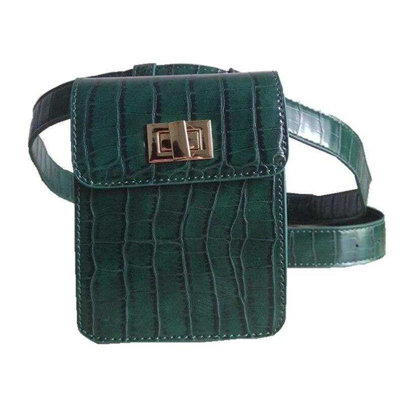 f3594cf1b72 Caker Brand 2019 Crocodile Pack Belt Bag Green khaki Waist Packs Bag Travel Waist  Pack Women