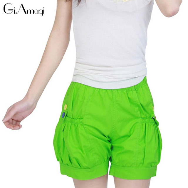 2017 new women shorts summer girl Korean version fat Lantern leisure high waist hot short pants loose slim XL size #GRP009