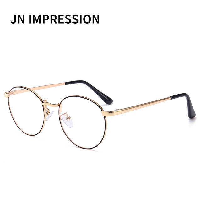 ee7c21fcdd placeholder Men women Round Sunglasses Retro Metal Frame Eyeglasses Korean  Clear Lens Glasses Male Female Optical