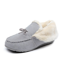 2016 winter hot sale women fur warm canvas casual Shoes women flats Women Shoes 613