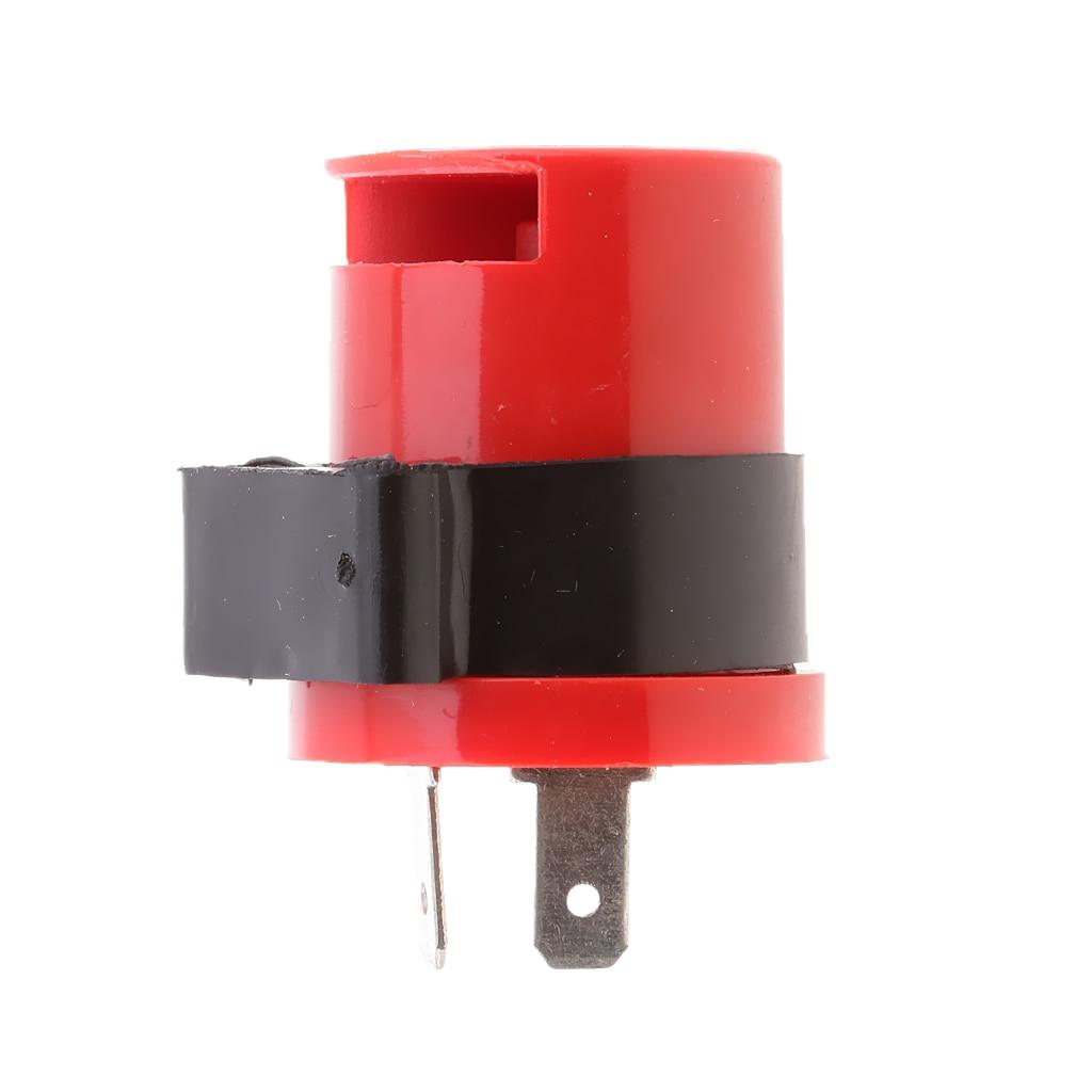 DC12V 2 Pin Motorcycle Turn Signal Light Indicator Flasher LED Blinker Relay Beeper
