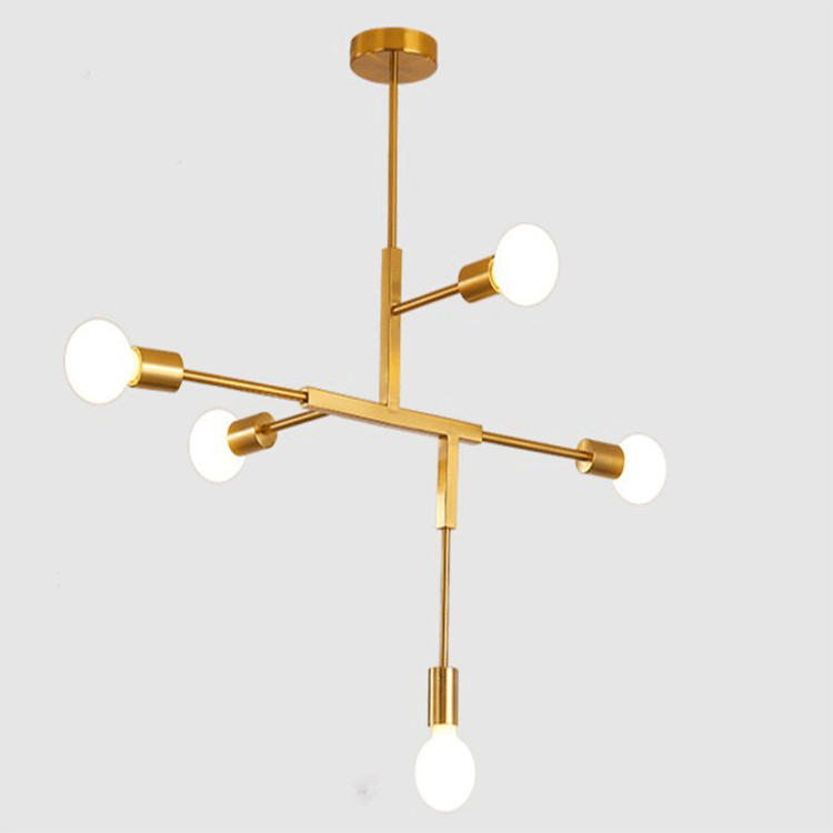 Nordic simple chandelier postmodern personality creative LED living room study bedroom lamp lighting