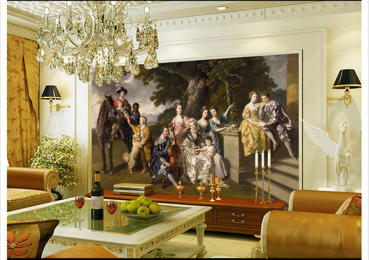 """Купить с кэшбэком Custom photo wallpaper 3d mural beauty """"Sir William young family"""" European background wall paintings wall papers home decoration"""