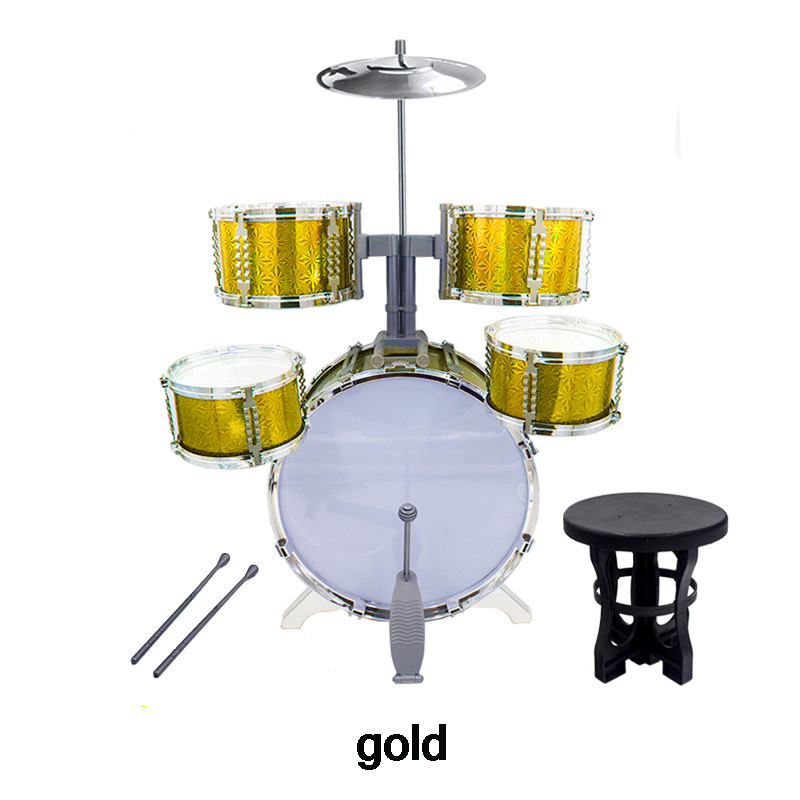 ФОТО Child drum rack toy deluxe drum musical instrument jazz drum 2 - 7 jazz drum set