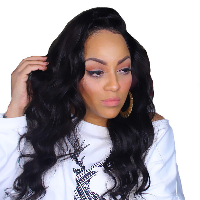 180% Density 360 Lace Wig Body Wave Lace Front Human Hair Wigs Non-remy Hair Pre Plucked Ever Beauty 360 Lace Frontal Wigs