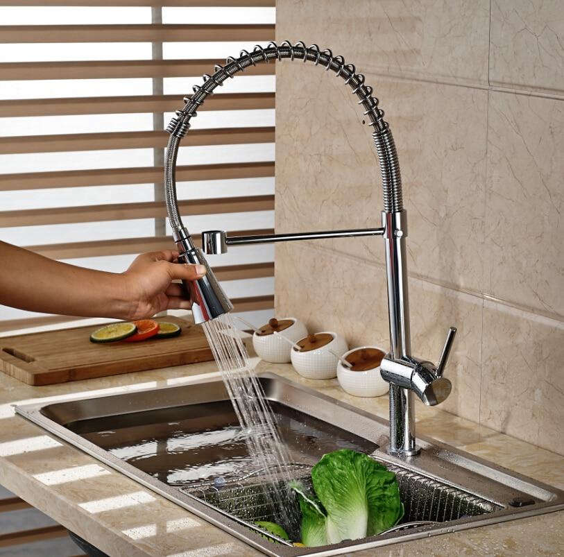 цена на Single Lever Kitchen Deck Mount Sink Faucet Chrome Polished Single Handle Mixer Tap