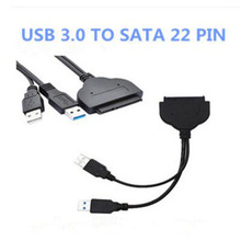 USB three.zero To SATA 22Pin Information Energy Cable Adapter 2.5inch Exhausting Disk Driver SSD Stable State Drive Cable Coverter -25