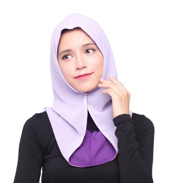 Muslim Women Chiffon Hijab Cover Islamic Headwear Scarf Caps Shawls  Headscarf Hijabs high quality cbd933fc206