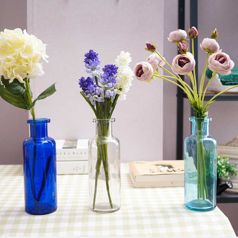 The Spanish Style Contracted Glass Vase Big Thick Glass Vase Desktop