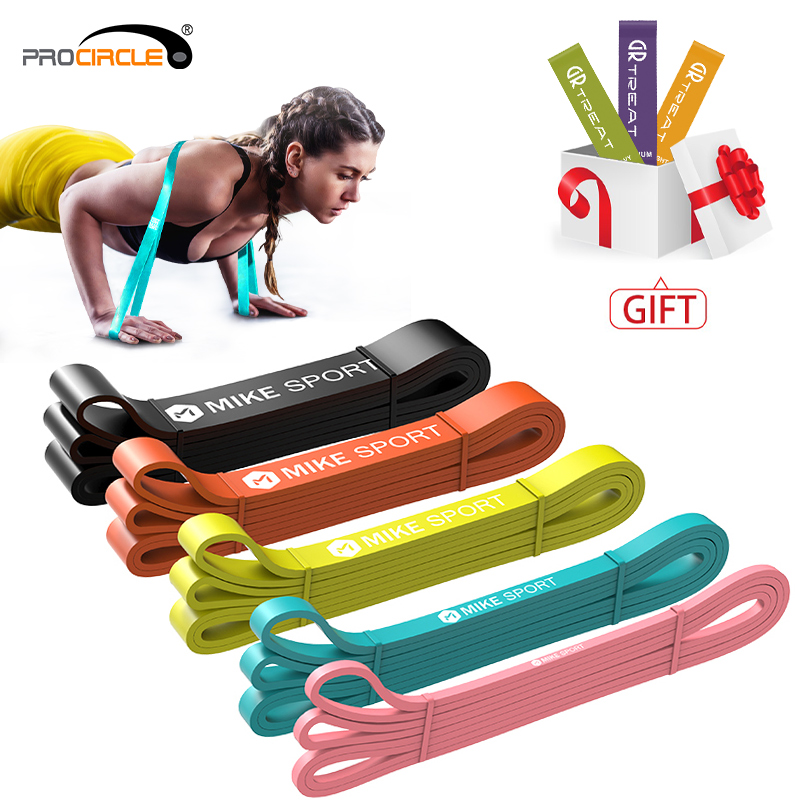 Procircle Bands Resistance-Bands Pull-Up Powerlifting Fitness Workout Yoga Home Gym