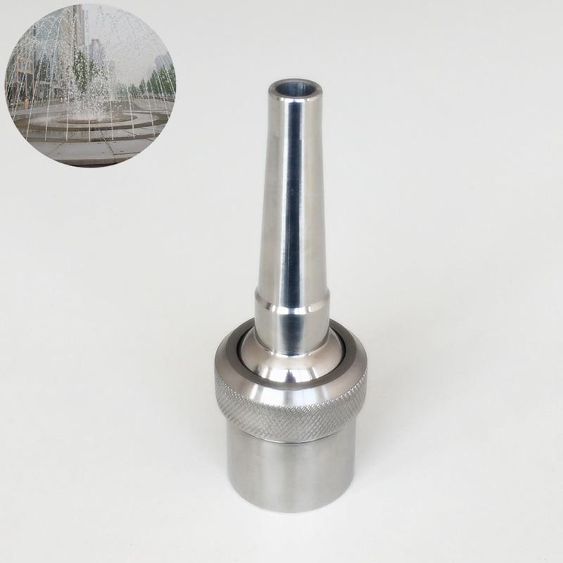 "1/"" Adjustable Brass Universal Straight Jetting Fountain Nozzle Fountain Head"
