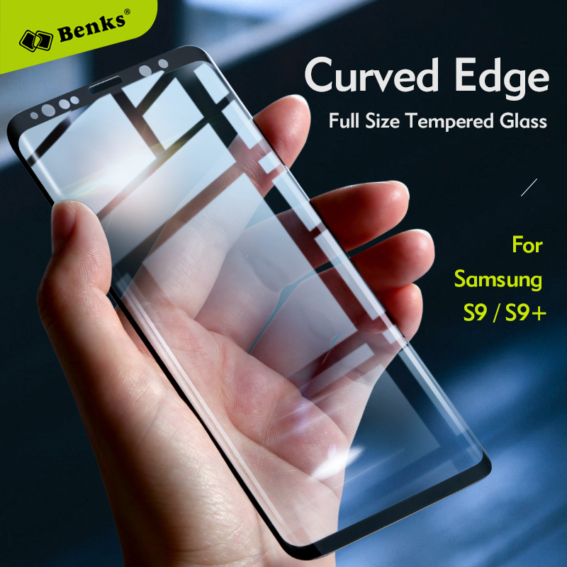 for Samsung Galaxy S9 S8 Plus NOTE 8 Tempered Glass BENKS 3D Curved Edge XPro Full Cover Screen Protector Film for Samsung S9 S8