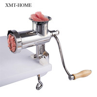 XMT HOME full stainless steel manual meat grinders handle meat mincer for sausage stuffer meat grinder 1pc
