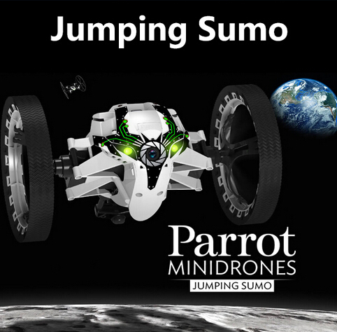 Original Parrot MiniDrones Jumping Sumo Car Controlled By iPhone / iPad with Camera parrot jumping sumo brown