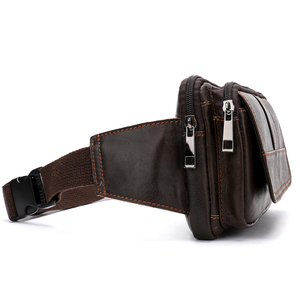 Image 4 - Поясная Сумка MVA мужская кожаная, забавная сумочка на пояс для денег, телефона, дорожный клатч на ремне на плечо, 8966