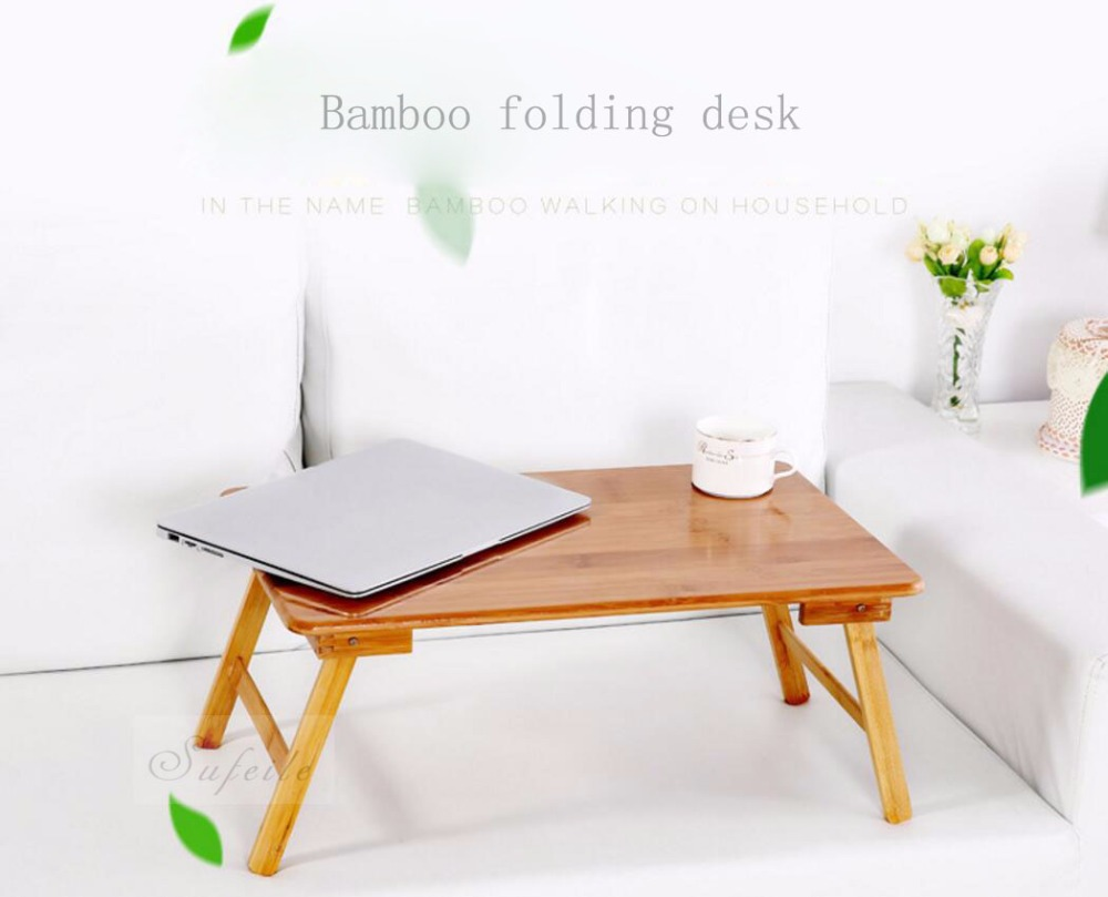 Sufeile folding laptop table sofa bed desk office stand for Table ordinateur