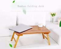 SUFEILE Folding Laptop Table Sofa Bed Desk Office Stand Table Bamboo Portable Folding Computer Desk D15