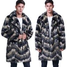 Мужская куртка из искусственного меха, верхняя одежда, осень-зима, теплое пальто из искусственного меха, мужская мода, ветровка плюс размерные куртки, мужские пальто