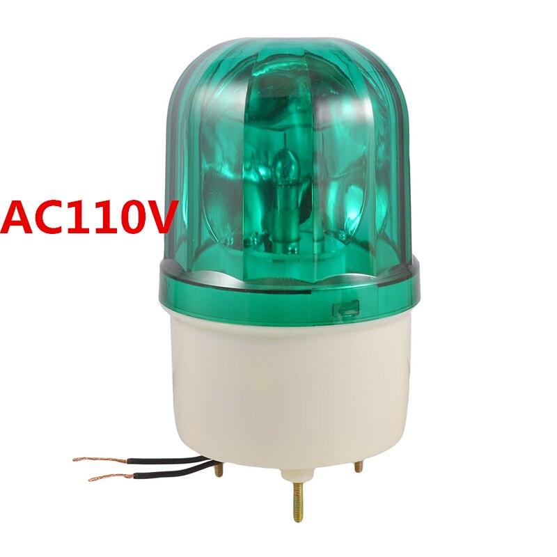 AC110V 10W Green Rotator Rotary Lamp Warning Light Beacon for Industrial LTE-1101