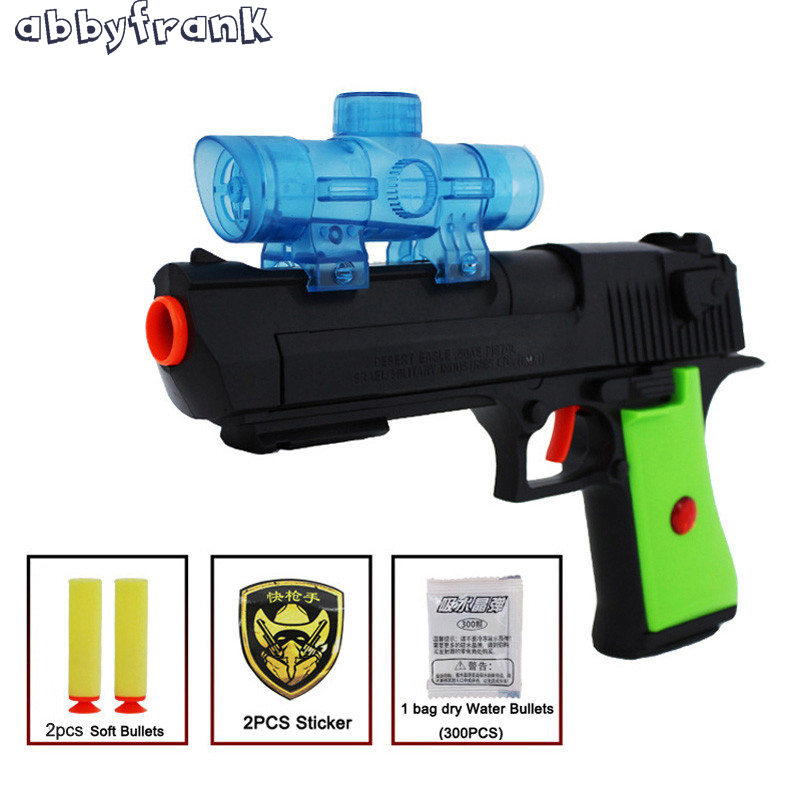 Abbyfrank Plastic Toy Gun Paintball Water Gun Air Soft Pistol Soft Water Bullets Sniper Desert Eagle Arma Arme Orbeez Toys Gifts
