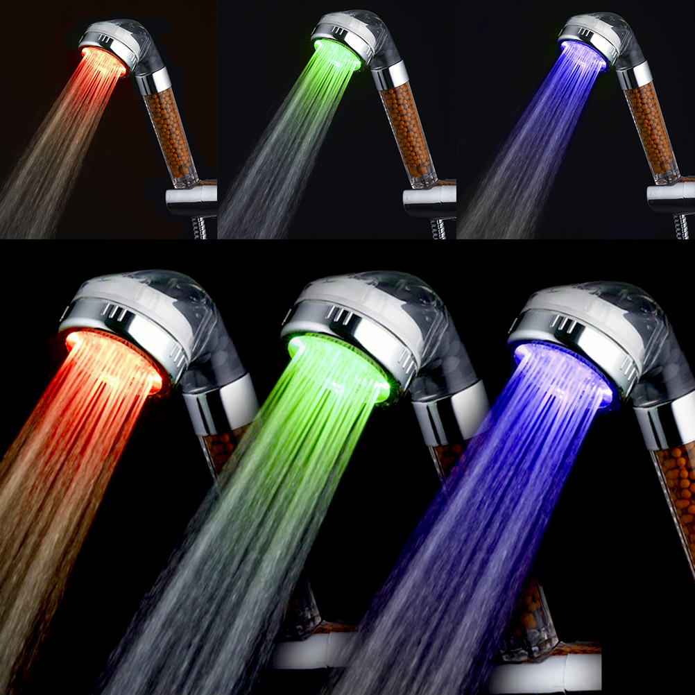 ZLinKJ 1PCS Automatic Shower Head Color Changing Lighted Glow Light ...