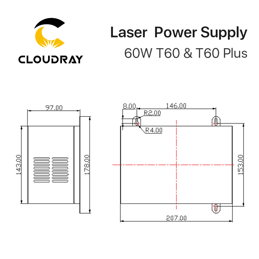Alimentatore laser CO2 Cloudray 60W per macchina da taglio per - Parti di macchine per la lavorazione del legno - Fotografia 6