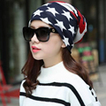 Hot Sale Fashion New Women Knit Baggy Beanie Hat Winter Warm Bronzing Star Fashion Sleeve Head Cap