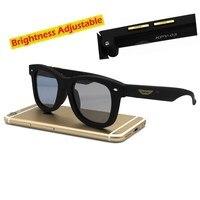 Original Design Sunglasses LCD Polarized Lenses Electronic Transmittance Mannually Adjustable Lenses Sun Glasses Vintage Frame