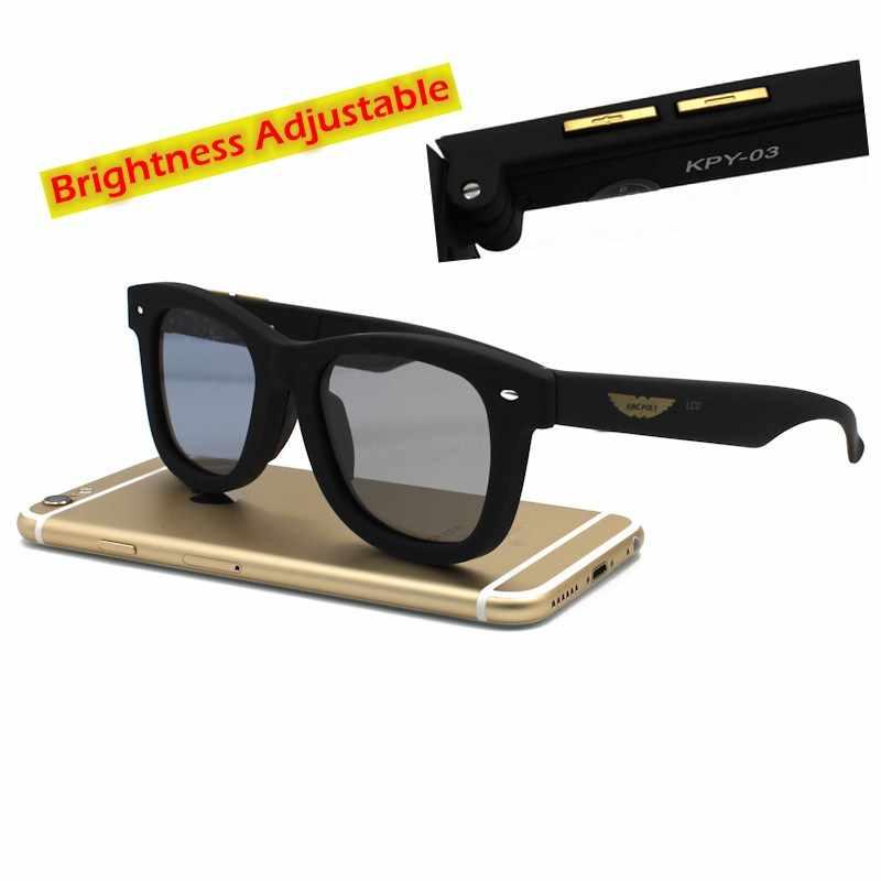 ... Оригинальный Дизайн Солнцезащитные очки для женщин ЖК-дисплей  поляризационные Оптические стёкла электронный пропускания mannually  Регулируемая 04087f12af6