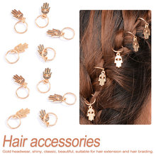Fashion 1set Kids Girls Silver/Golden Hairpin Compiled Hair Accessories Circle Hoop punk style Jewelry Gift