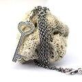 Compatível com Estilo Europeu Colares Jóias 100% 925 Sterling Silver Pendant Desbloquear O Meu Coração Charme DIY Atacado CKK