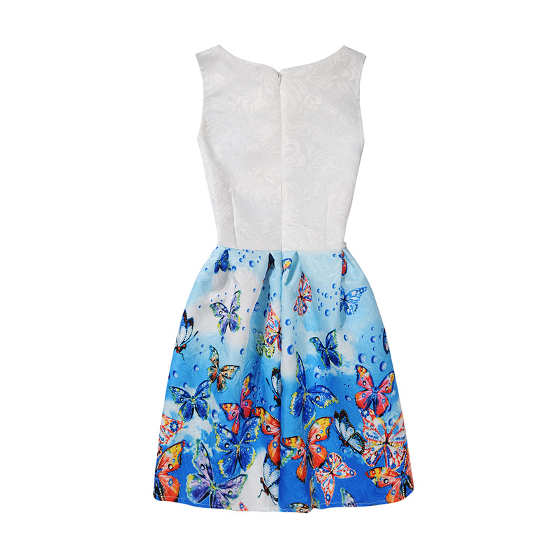 Frozen Sleeveless Ankle Length Girls Dress Children Summer Cartoon Butterfly Party Tutu Princess Kids Dresses For Girls 3T 12T in Dresses from Mother Kids